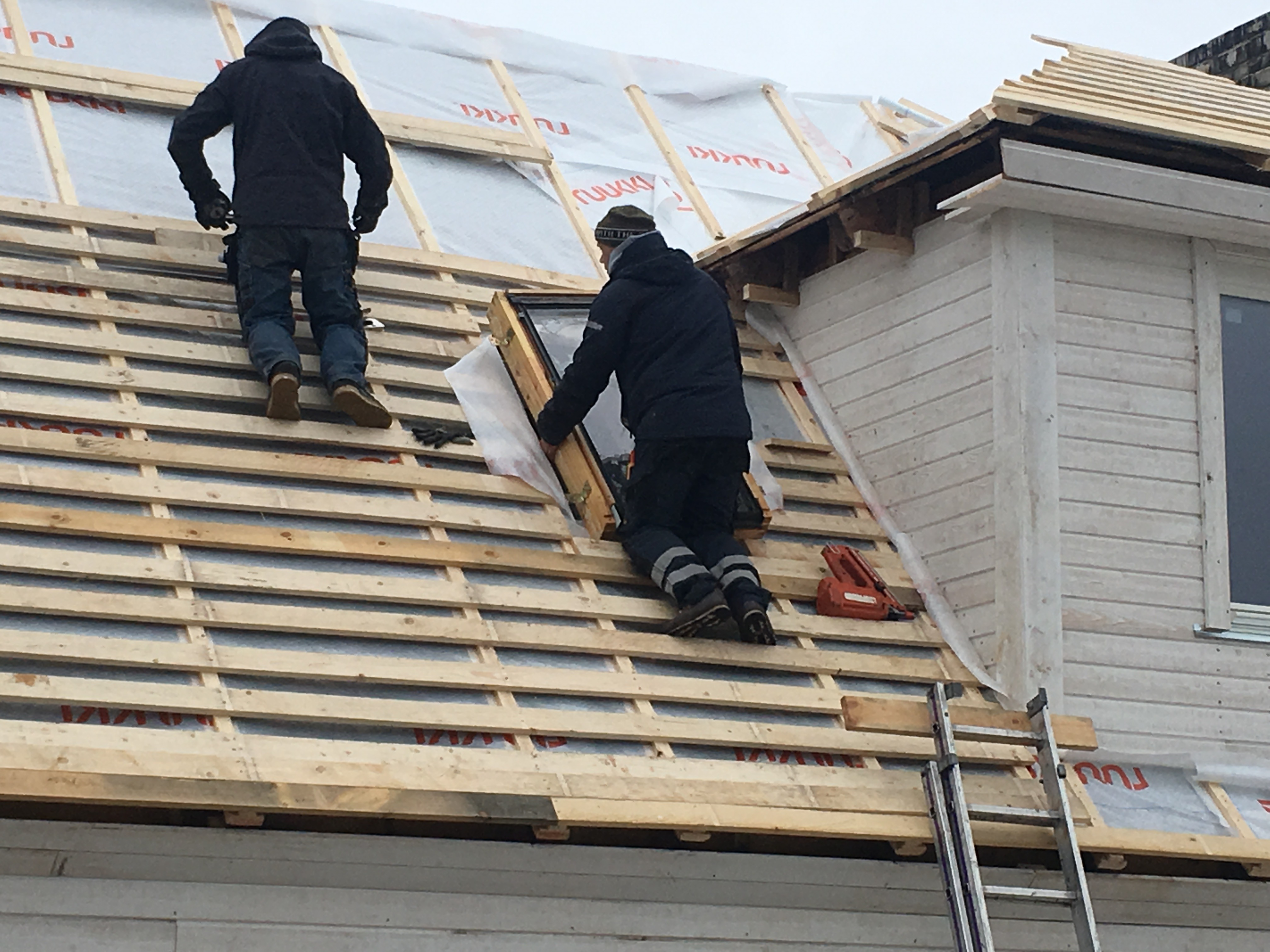 Plekk katuse paigaldamise eeltööd